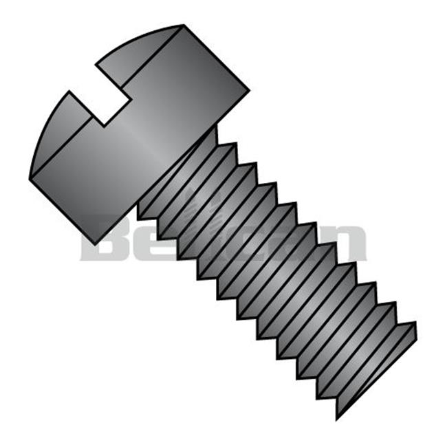 No.12-24 x 0.5 Slotted Fillister Head Fully Threaded Machine Screw, Black Oxide - Box of 5000 - image 1 de 1