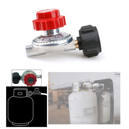 Gas Connector with Propane Regulator Valve,Propane High Pressure Regulator 0-20 PSI