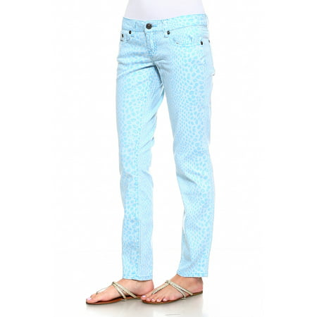 - Request Jeans Juniors Skinny Patterned Pants Five Pocket Styling Lake 15/34
