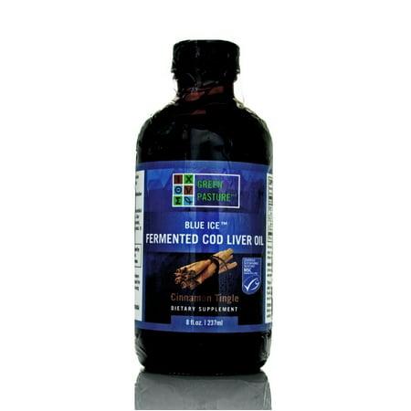 Blue Ice Fermented Cod Liver Oil, 8 fl oz/240mL, Cinnamon - Blue Ice Fermented Cod Liver Oil