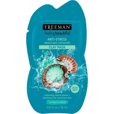 Freeman Feeling Beautiful Clay Face Mask Anti-Stress Dead Sea Minerals, 0.5 fl oz