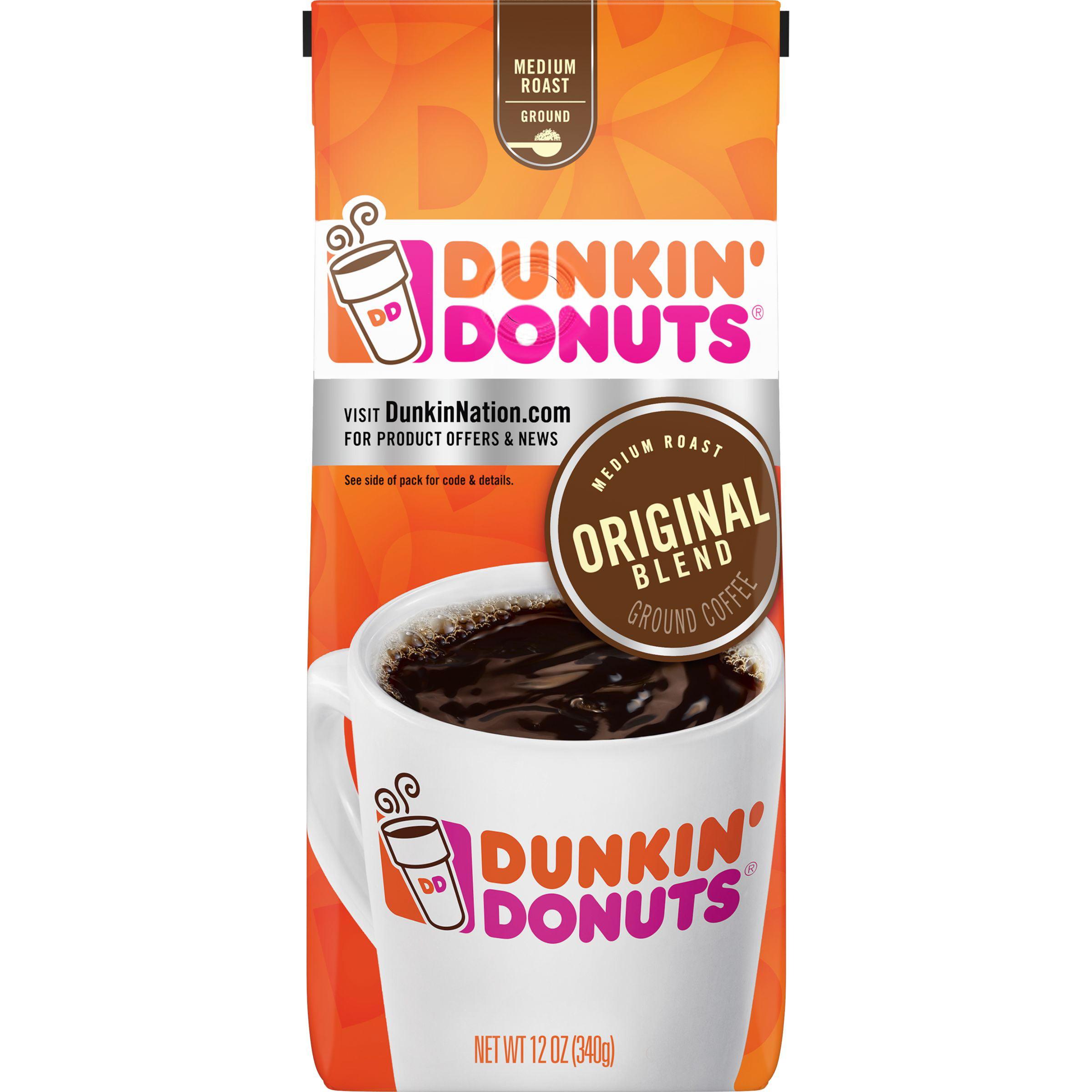 Dunkin' Donuts Original Blend Ground Coffee, Medium Roast ...