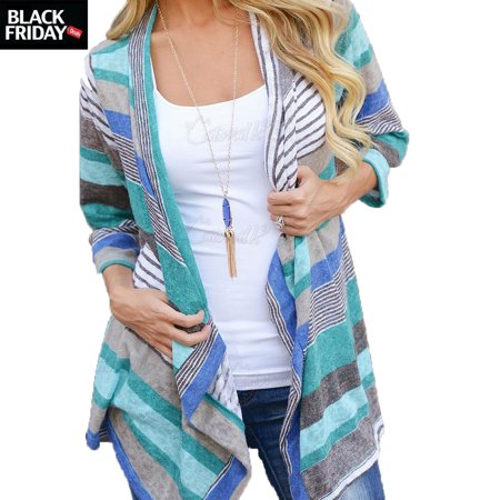Long Sleeve Knitted Cardigans Black Friday Deal gift for Women, Soft and Seem Sweater Blouse Christmas day gift for girl, Leisure Round Cover-up Kimono Cardigan Tops](black friday gift deals)