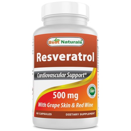 Best Naturals Resveratrol 500 per serving mg 60