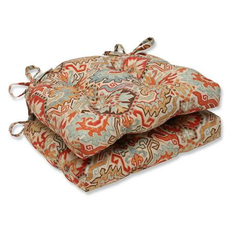 Pillow Perfect Madrid Persian Reversible Chair Pad - Set ...