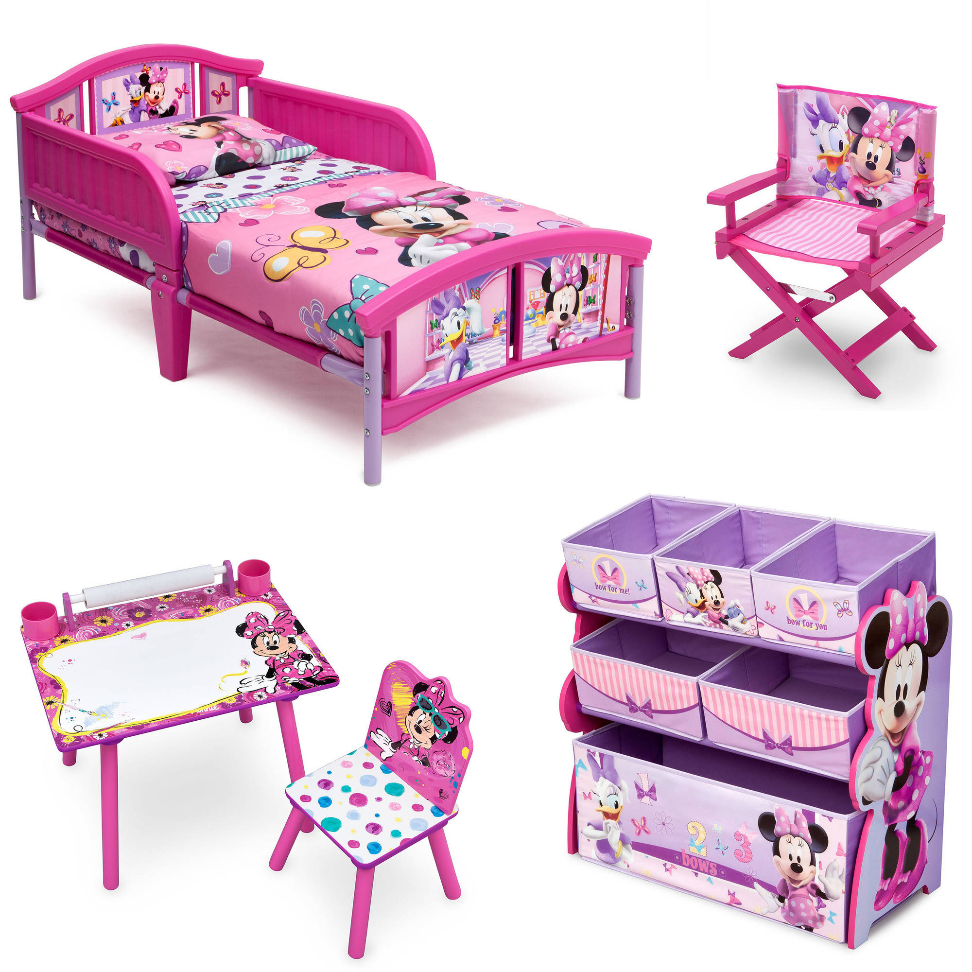 Disney Minnie Mouse Room In A Box With Bonus Chair