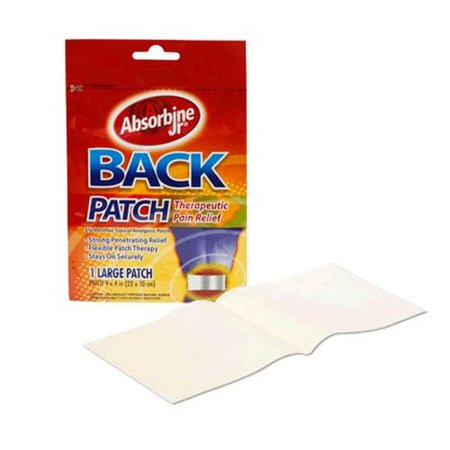 3 Pack Absorbine Jr Back Patch Therapeutic Pain Relief Large Patch
