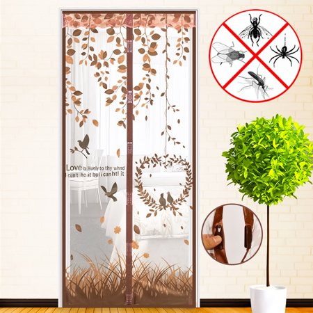 4 Colors Magnetic Mesh Screen Door Instant Mesh Curtain Closer for 35.9x86.7