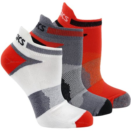 Asics Mens Quick Lyte Cushion Single Tab 3-Pack Running Athletic Socks Ankle
