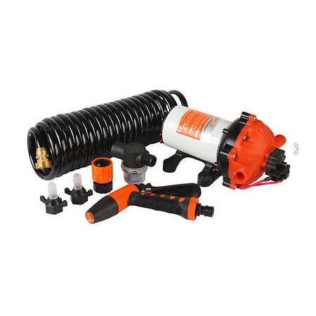SEAFLO 12V 5.5 GPM 70 PSI Washdown Deck Pump KIT Rv Boat Marine 4 Year Warranty - Wood Boat Kits