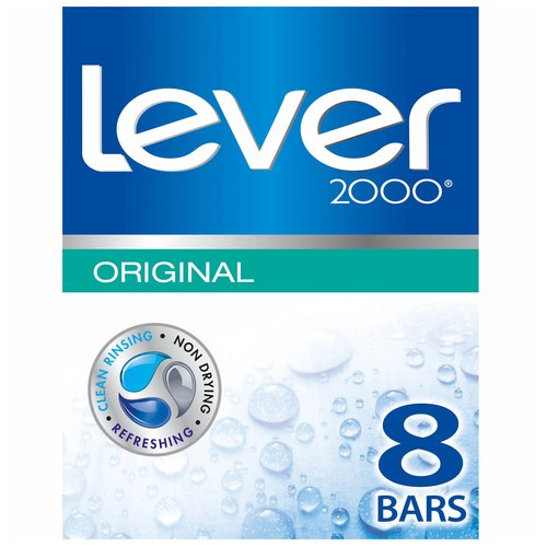 Lever 2000 Original Bar Soap, 4 oz, 8 Bar