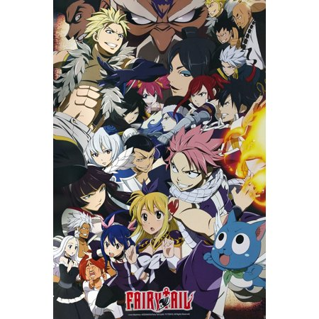 "Fairy Tail - Anime TV Show Poster / Print (Fairy Tail Vs. Other Guilds - Character Collage) (Size: 24"" x 36"")"