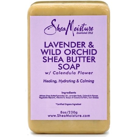 Orchid Vitamins - Shea Moisture Lavender & Wild Orchid Shea Butter Soap 8 oz