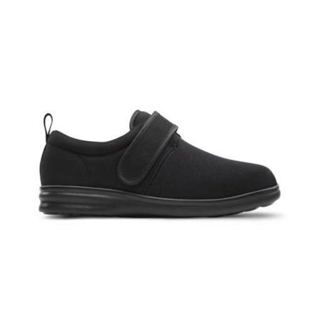 Diabetic Shoe - Dr.Comfort Carter Men's Therapeutic Diabetic Extra Depth Black Shoe Lycra Velcro