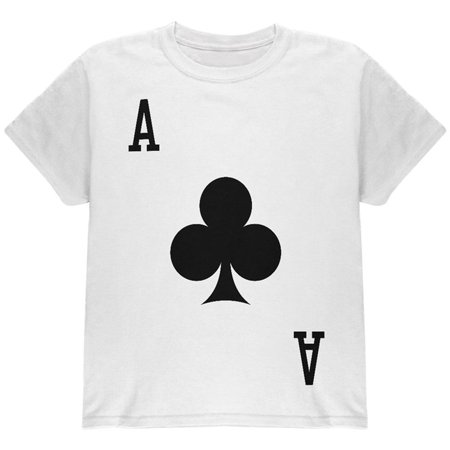 Halloween Ace of Clubs Card Soldier Costume All Over Youth T Shirt - Club 20 Reading Halloween