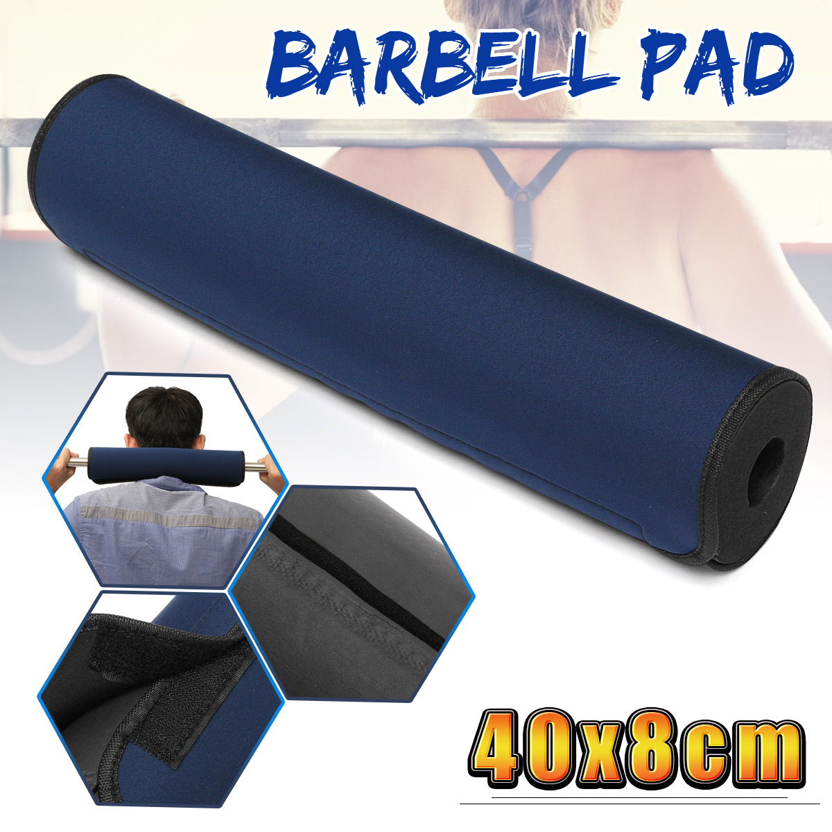Barbell Pad Squat Bar Supports Weight Lifting Pull Up Neck Shoulder Neck Protect
