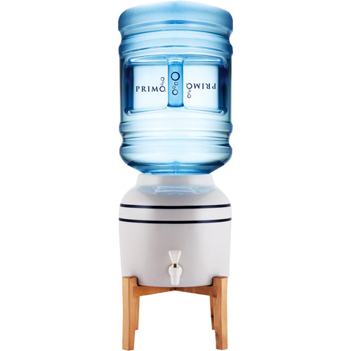 Primo Ceramic Crock Water Dispenser With Wooden Stand
