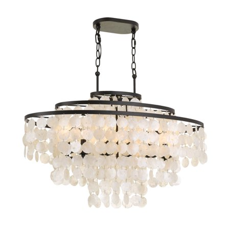 elight DESIGN ED02608BZ Capiz Shell Linear (Capiz Shell Chandeliers Hanging)
