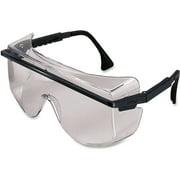 Uvex Safety Astro OTG 3001 Safety Glasses, Clear Lens, Black Frame, 1 Each (Quantity)