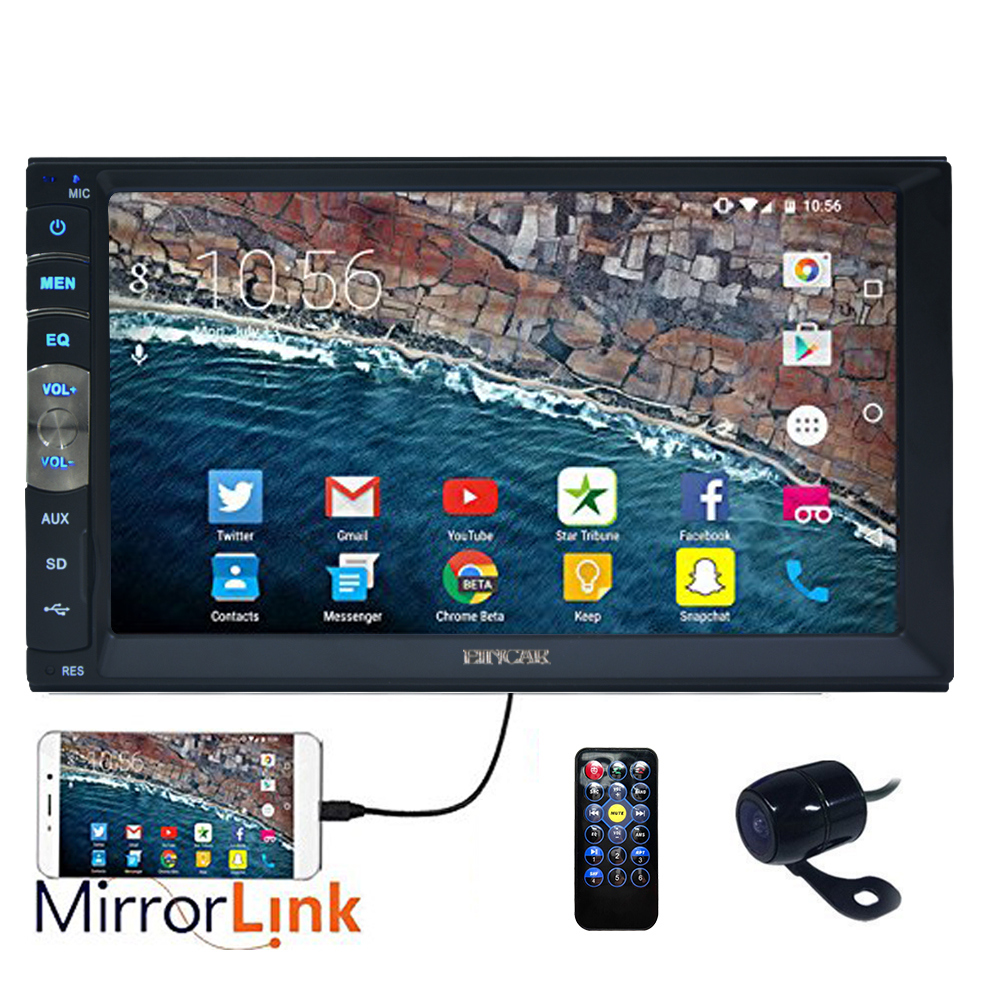 New Brand Upgarde Version 7 Inch Capacitive Touch Screen Audio (Mirror Link for GPS of Android Phone) Double 2 Din... by EinCar