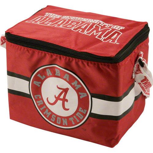 NCAA - Alabama Crimson Tide Lunch Bag: 6 Pack Zipper Cooler