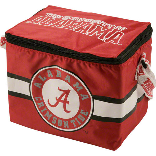 NCAA - Alabama Crimson Tide Lunch Bag: 6 Pack Zipper Cooler