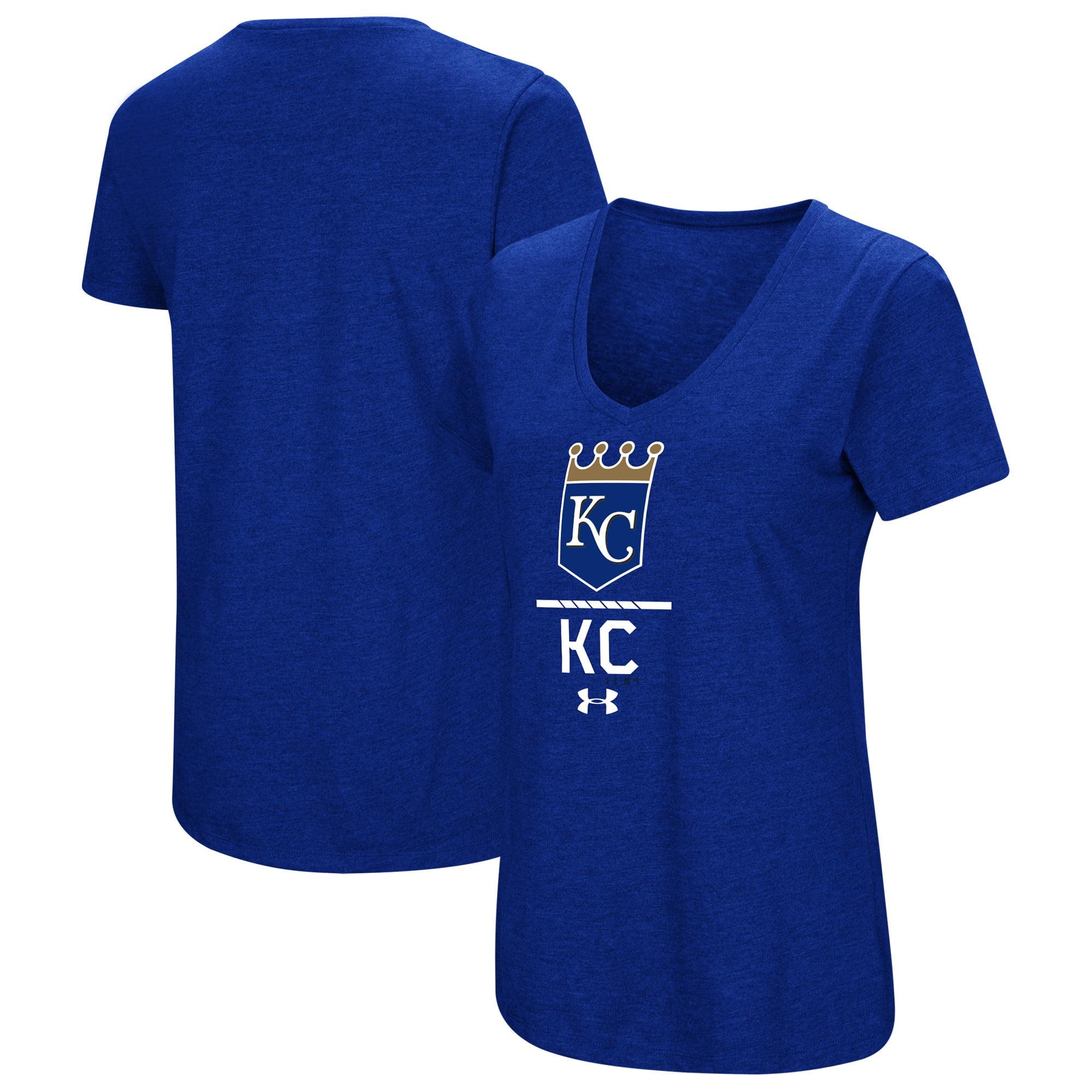 Kansas City Royals Under Armour Women's Team Lock-Up Tri-Blend T-Shirt - Royal