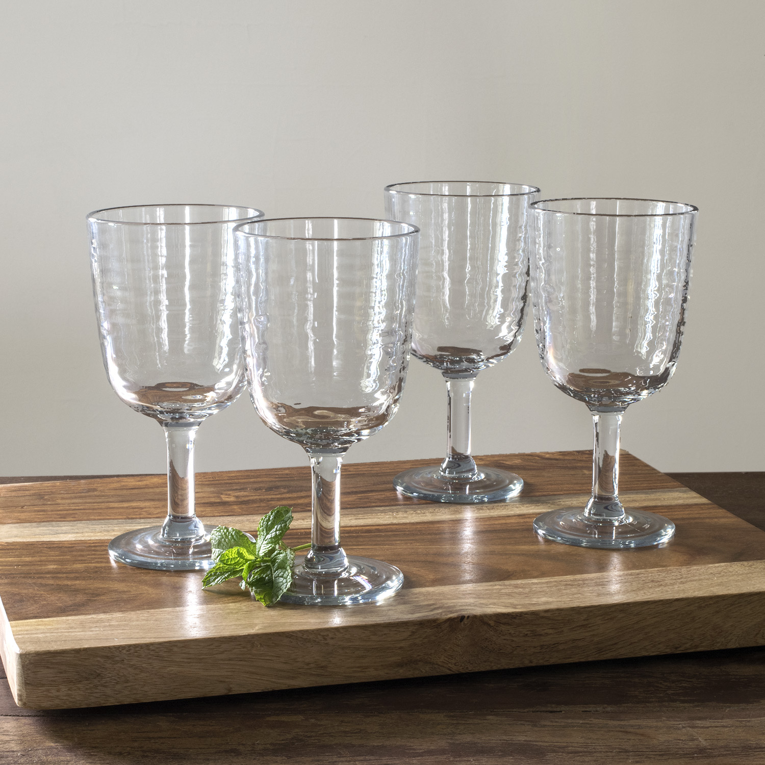 Mainstays Green Tint Goblet, 4 Pack
