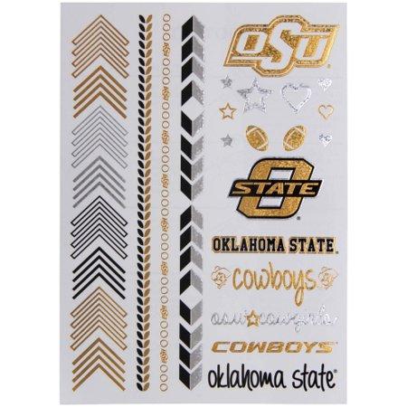 Oklahoma State Cowboys chicka-d Women's Metallic Spirit Tattoo Sheet - No Size](Cowboy Western Tattoos)