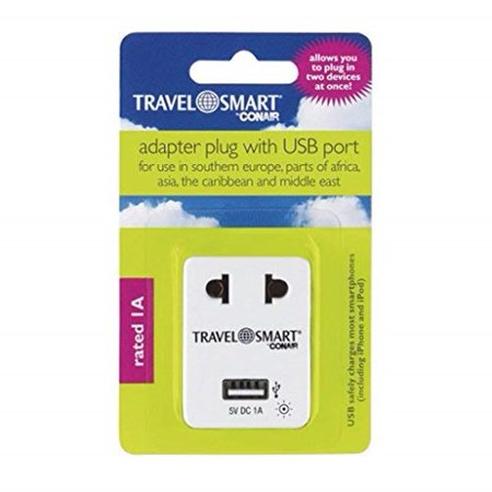 Conair Travel Smart Adapter Plug with USB Port (Best Smart Plug Uk)