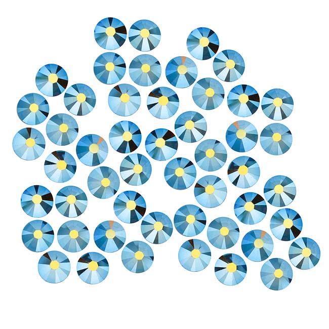 Swarovski Crystal, Round Flatback Rhinestone SS20 4.6mm, 50 Pieces, Smoked Topaz AB