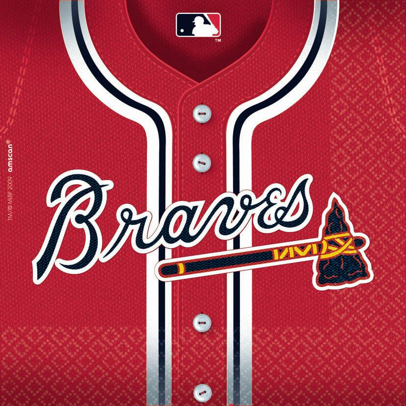 Atlanta Braves Luncheon Napkins (36 Pack) - Party Supplies