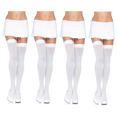 Women's Over The Knee Thigh Highs Hosiery, O/S, 4-Pair, Neon Assorted (Neon Pantyhose)