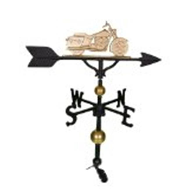 Montague Metal Products WV-318-GB 300 Series 32 inch Deluxe Gold Motorcycle Weathervane