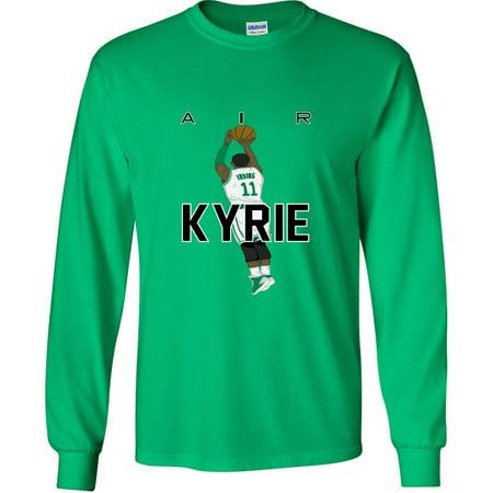 LONG SLEEVE Shedd Shirts GREEN Kyrie Irving Boston Celtics