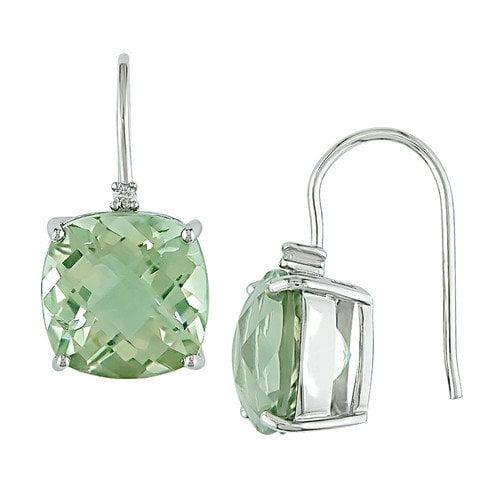 Amour Green Amethyst Hook Earrings