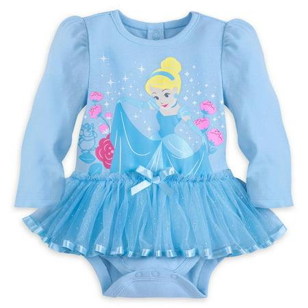 Disney Store Princess Cinderella Baby Girl Long Sleeve Bodysuit Size 18/24 Month