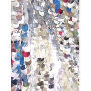 Big Dot Sequin Mesh Fabric / Shiny Silver / Sold By The Yard/Lure™ ***Free Shipping