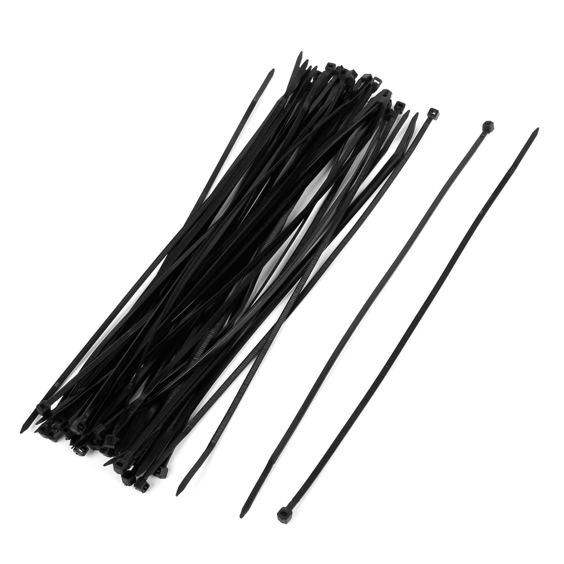 Unique Bargains 50 Pcs 9.8 Inch Length Heat-resisting Cable Wire Zip Ties Black