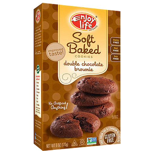 Enjoy Life Soft Baked Double Chocolate Brownie Cookies, 6 oz