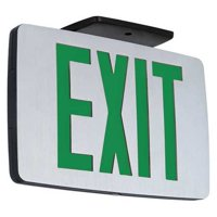 HUBBELL LIGHTING - COMPASS Exit Sign with Battery Backup,1W,Black CCESGE