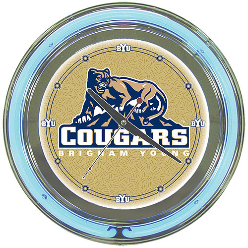 "BYU 14"" Neon Wall Clock"