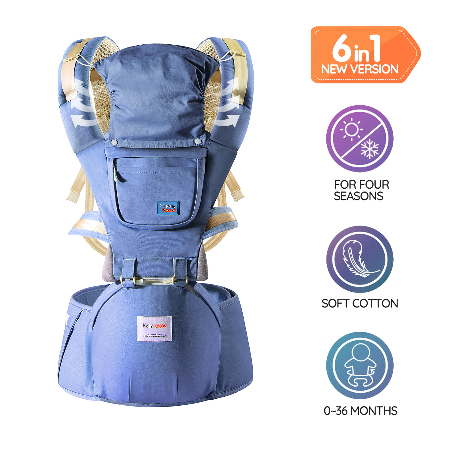 Soho Baby Carrier Dallas Backpack Front and Back All Carry Positions Newborn to Toddler Cover Carrier (Green) by Soho Designs