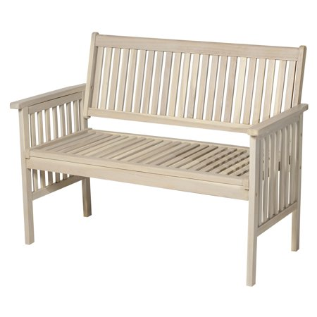 Awesome 46 Two Seater Acacia Wood Garden Bench Grey Walmart Canada Beatyapartments Chair Design Images Beatyapartmentscom