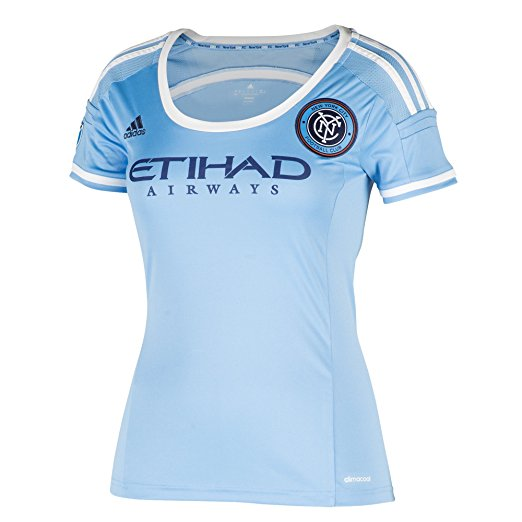 MLS New York City FC Women's Replica Short Sleeve Team Jersey, Blue, X-Large