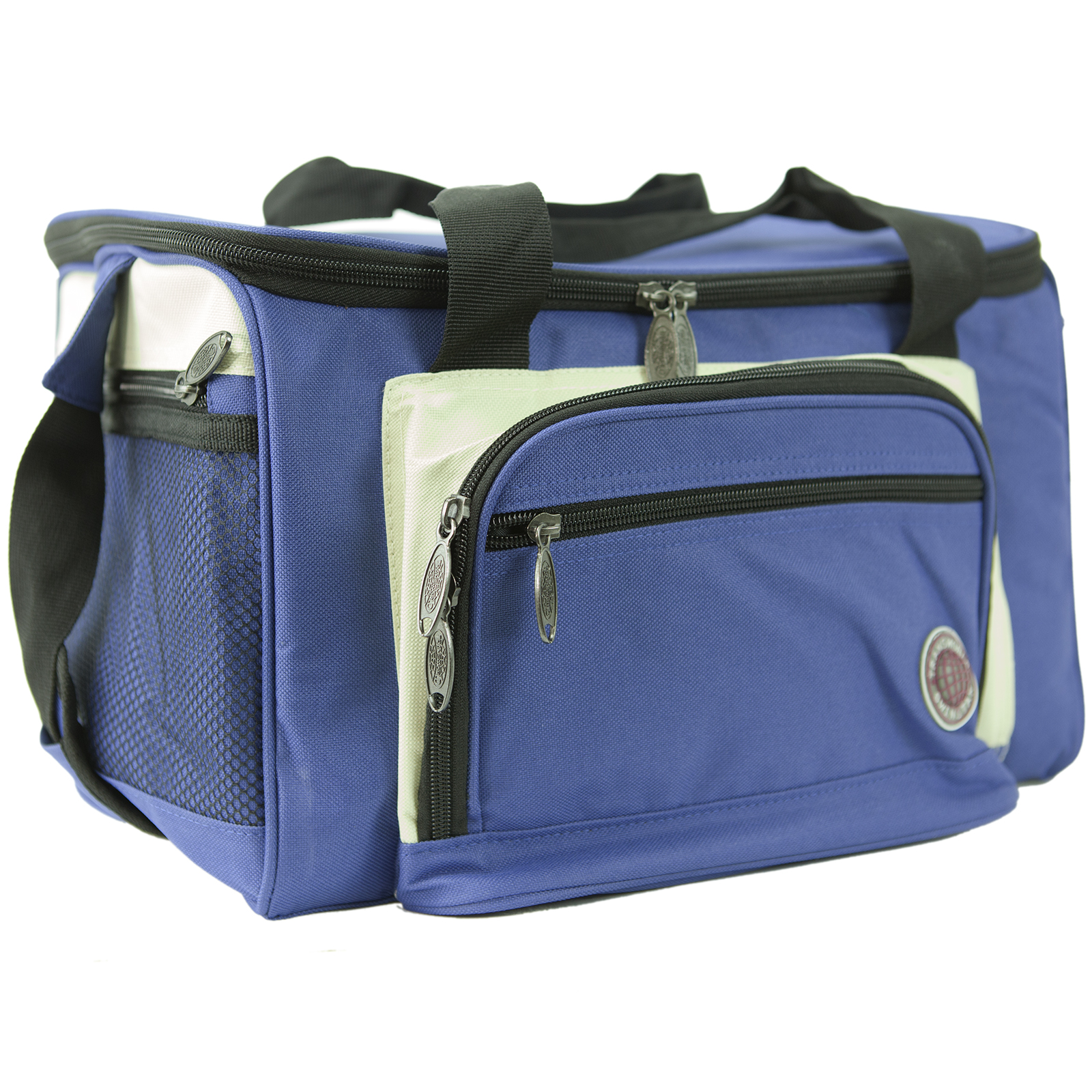 Insulated Lunch Bag Cooler Multiple Pockets Shoulder Strap Large Tailgating Tote