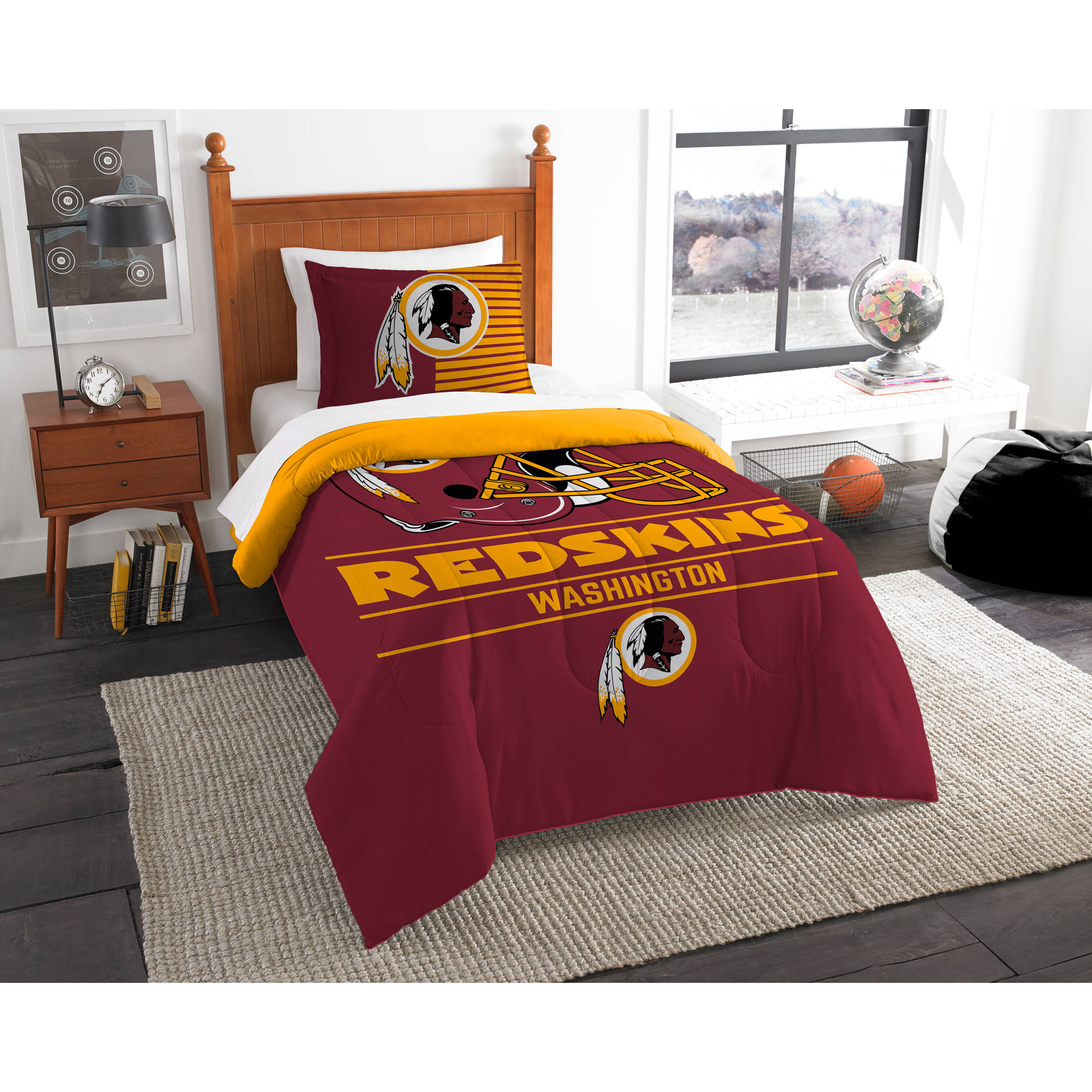 "NFL Washington Redskins ""Draft"" Bedding Comforter Set"