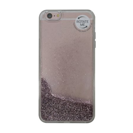 online retailer 0374e ff7cc Onn Lightweight Slim Clear Case For Iphone 6 Plus/6S Plus, Clear with Rose  Gold Glitter