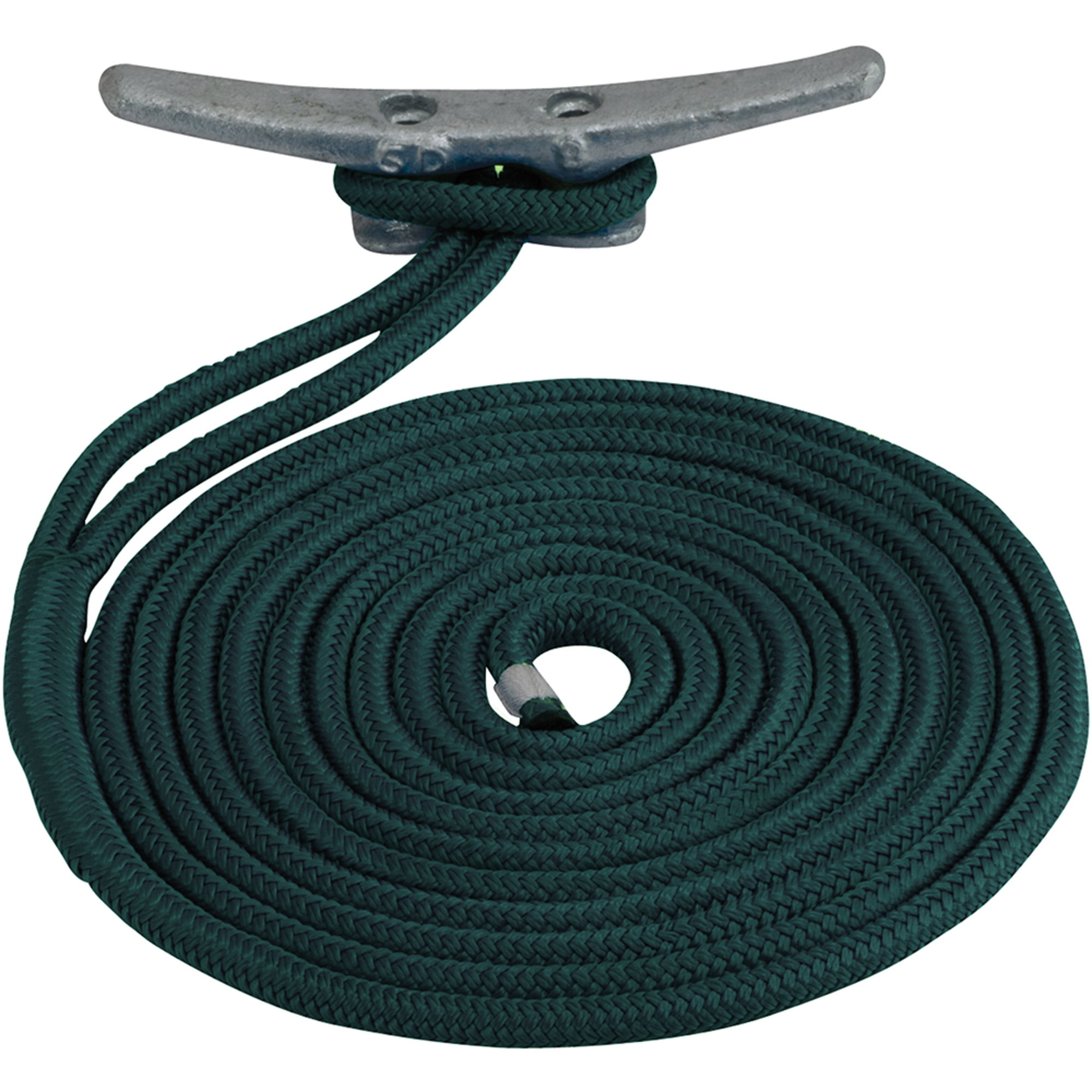 "Sea Dog Dock Line, Double Braided Nylon, 3 8"" x 20', Teal by Sea-Dog Line"