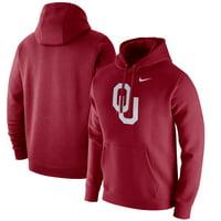 Oklahoma Sooners Nike Logo Club Fleece Pullover Hoodie - Crimson